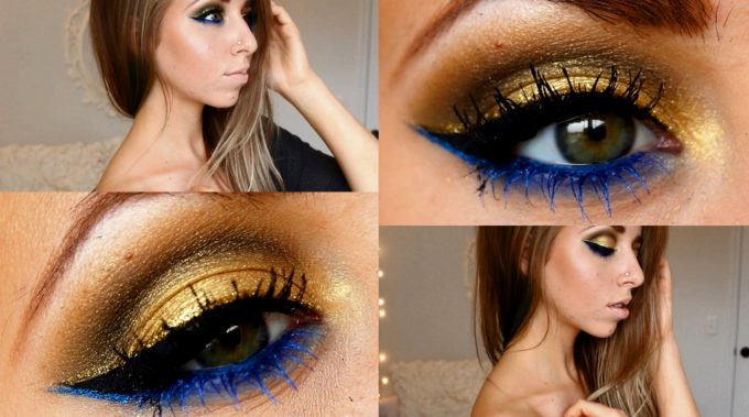 Tips to match eyeshadows with a blue dress